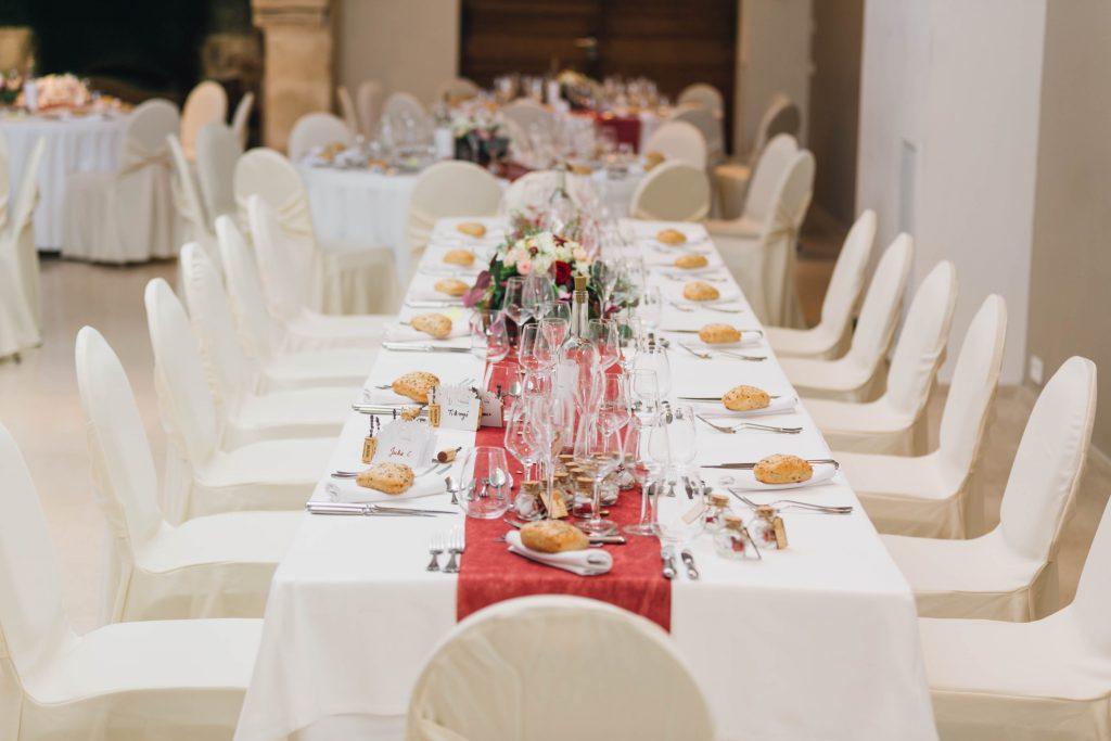 table elaborée par un wedding planner